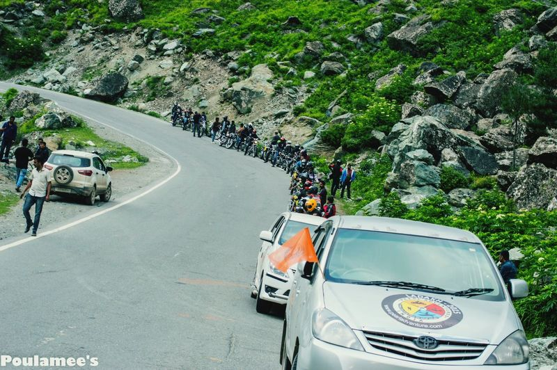 Our Biker Gang...33 Royal Enfield...travelling on the mighty Himalayas... Travel Photography Bikes Bikers The Great Himalayas Bike Expedition Royal Enfield
