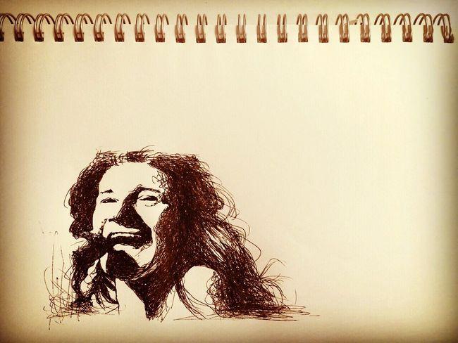 Janisjoplin Janis Joplin Drawing Illustration Sketch Loveandpeace Peace ジャニスジョプリン ボールペン ( ..)φ