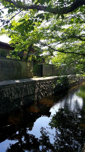 Garden Canal Boat House By The River Japanese Style Japan Summertime Lovely Day Boat Trip Cool Down