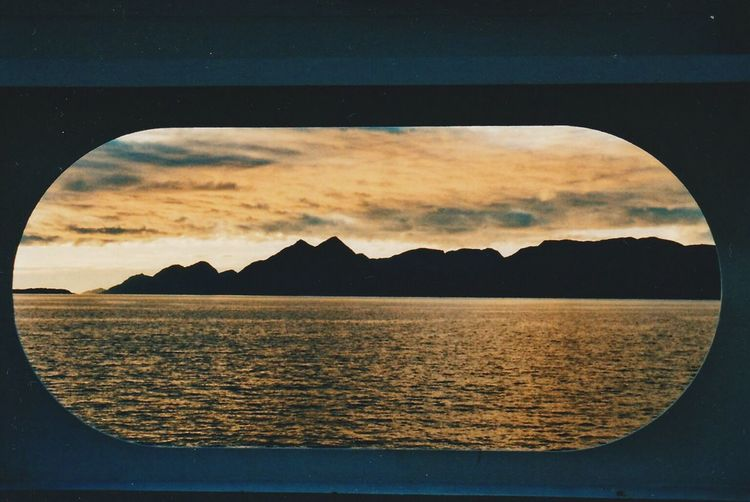 35mm Sky Outdoors Scenics Nature Sea Landscape Mountain Water Tranquil Scene Sunset Ferry 35mm Analogue Photography Sunset Norway EyeEmNewHere