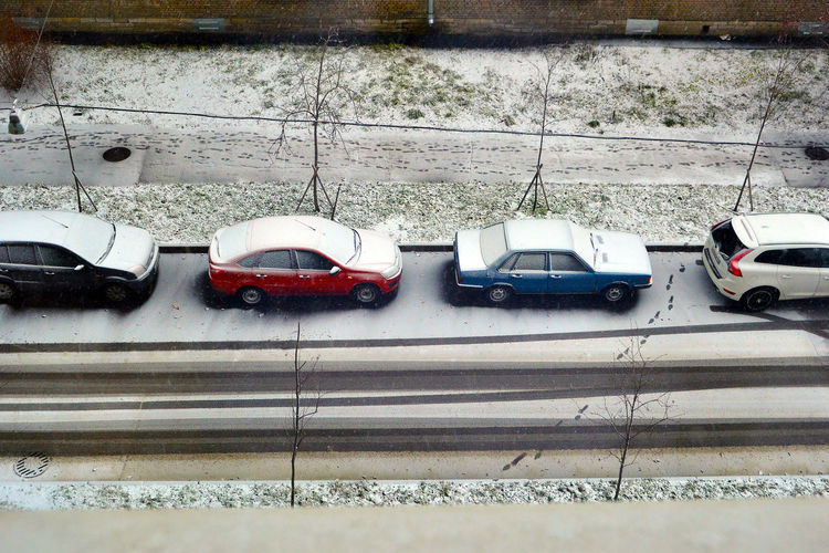 Winter in Saint Petersburg, Russia Cold Temperature Covering Day Land Vehicle Mode Of Transport No People Outdoors Parked Parking Parking Lot Road Saint Petersburg Saint Petersburg, Russia Season  Snow Stationary Transportation Weather White White Color Winter Winter In Saint Petersburg, Russia Battle Of The Cities The Street Photographer - 2017 EyeEm Awards
