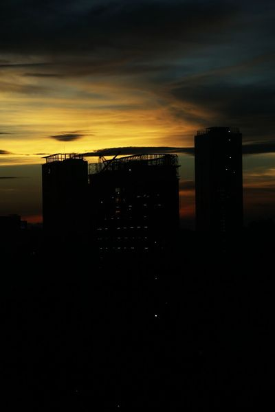 Sunset Sunset, Sillouette Sillouette Beautiful Nature Beautiful Colours.... Sky Colorful Sky Citylights Darkness And Light