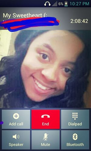 On the phone with my baby!! (: 1.6.13 <3 <3