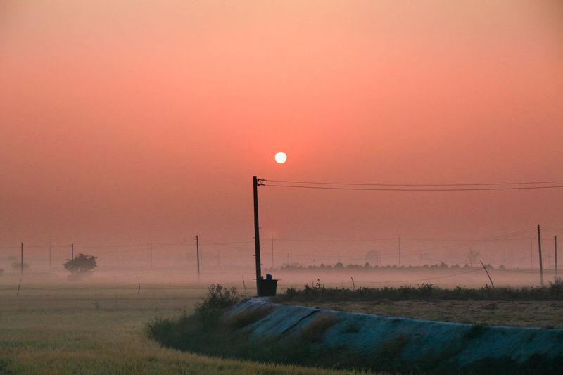 일출 First Eyeem Photo Fog Morning Orange Sun Sunset 논현동 일상