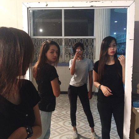 Girls checking girls