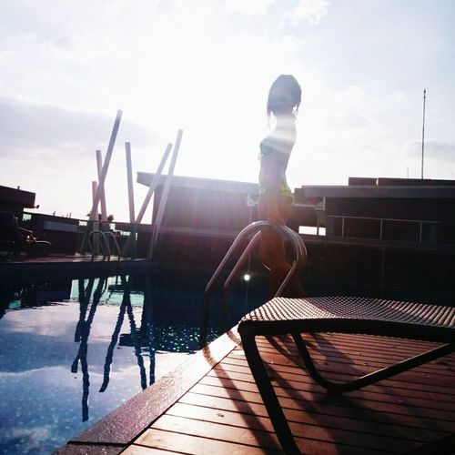 Pool Time Swimming Pool Sunshine That's Me Lalita😊 Enjoying Life Relax Time  Chill Nice Day