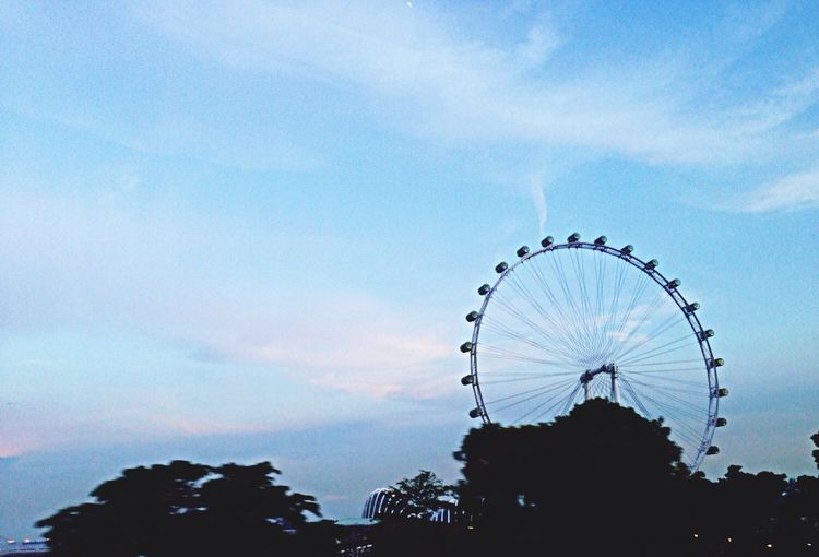 Singapore Flyer Clouds And Sky EyeEm Best Shots On The Road Landscape