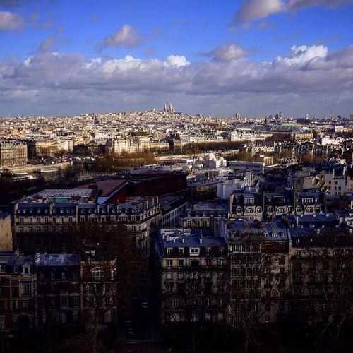 City Paris Montmartre Toureiffel Cityview Cityscapes Cityscape