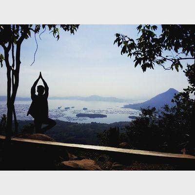 Namaste! Yoga dulu biar kaya artis-artis terkenal.. TravelingPakeReceh JarambahBandung DiBawahLangitBandung BandungIsMe