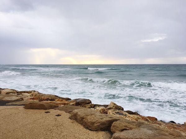 Stormy weather Tel Aviv Beach Storm Jaffa Jaffa Port Mediterranean