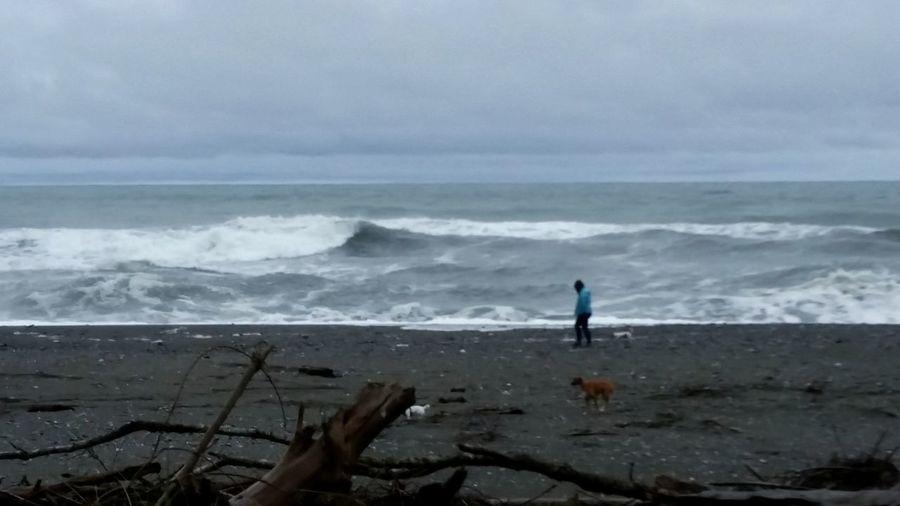 Ocean, person,