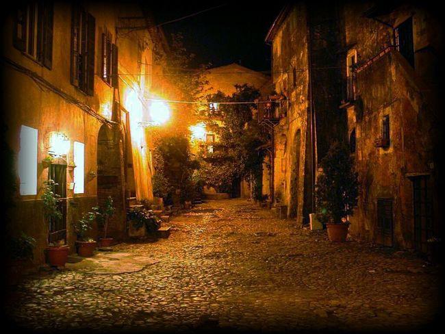 Night shot of Calcata (near Rome - Italy) Streetphotography City Italy Italia Calcata Night