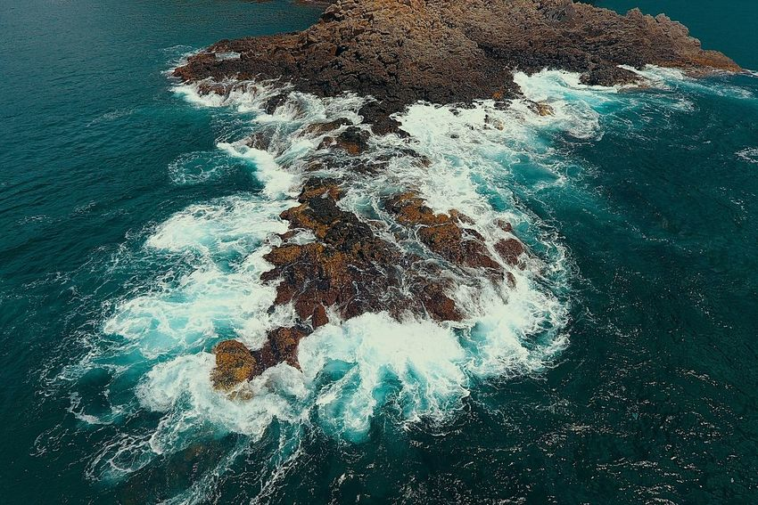 On the Rocks Travelphotography Travel Five Fingers Land Tidal Wonder Philippines Rock Formation Aerial Photography Aerial Drone  Waves Sea Water High Angle View Nature Beauty In Nature Day Beach No People Wave Outdoors EyeEmNewHere
