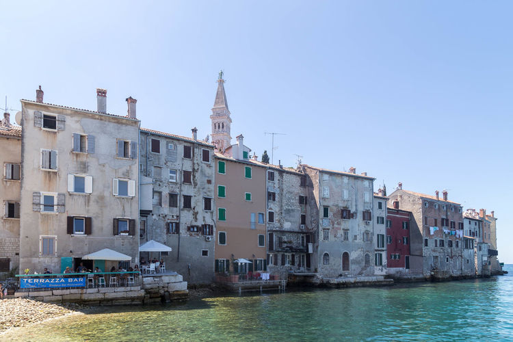 Rovinj... Croatia Fishing Port Holiday Houses Old Town Rovinj Rovinj Croatia Rovinj City Vacations Architecture Building Building Exterior Built Structure Clear Sky Croatian City Croatian House Croatian Town House Old Buildings Residential District Sea Vacation Visit Croatia Water Waterfront