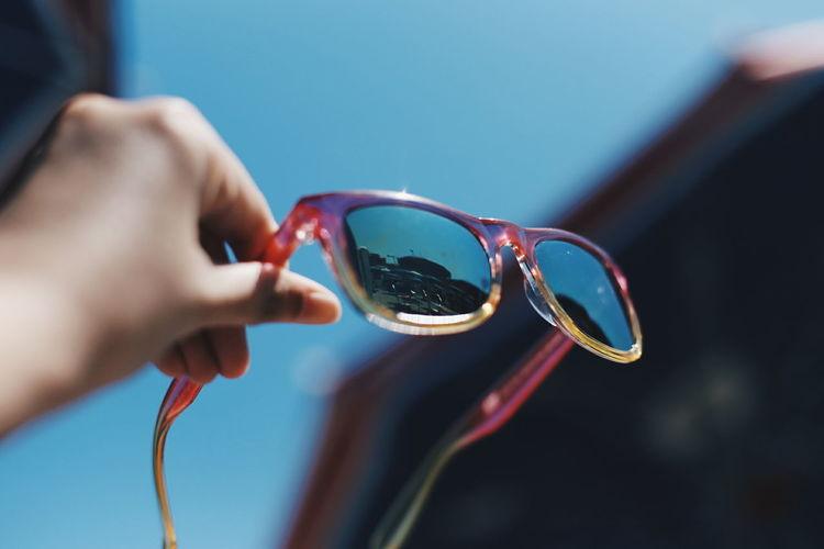 Sunglasses Eyewear Eyeglasses  Summer Lato 夏 Sommer Beach View Summertime The Week On EyeEm EyeEm Outdoors Sky Blue Mix Yourself A Good Time Love Yourself Summer Exploratorium