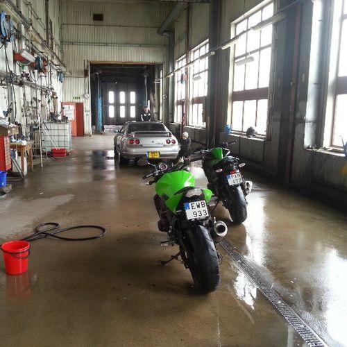 Helgens nöje! Häckeberga med grabbsen o lite tvätt! Kawasaki Z750  Z800 Skyline spring häckeberga