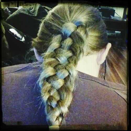 Love learning new things! Quality time with the boyfriends oldest <3 Beauty Bonding ♥ Love Her To Death Five Strand Hair Braid