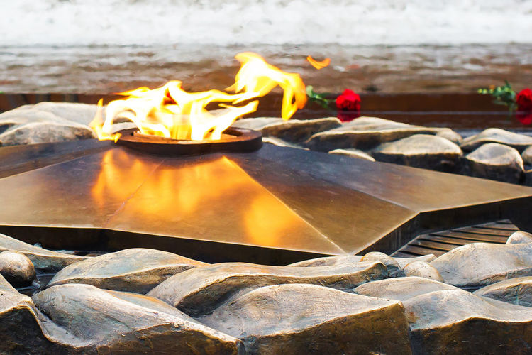 Flame Fire Burning No People Close-up Outdoors Eternal Great Patriotic War Monument 9 May