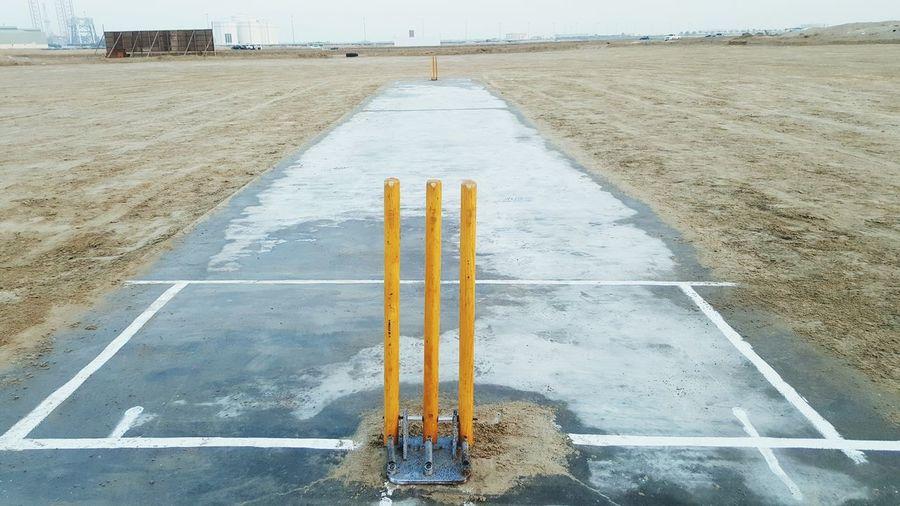 Empty Cricket Field