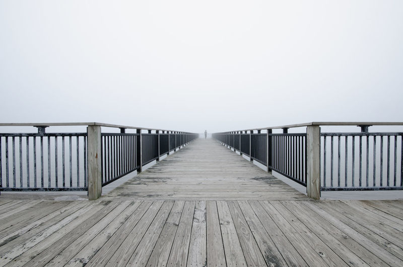Beauty In Nature Boardwalk Clear Sky Day Diminishing Perspective Empty Long Narrow Nature No People Outdoors Pier Scenics Sky The Way Forward Tranquil Scene Tranquility Vanishing Point Walkway Wood - Material Wooden