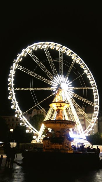 Ferris wheel in Budapest Arts Culture And Entertainment Night Ferris Wheel Amusement Park Illuminated Circle Outdoors Budapest Streetphotography Budapest, Hungary Budapest Love 💟 Budapest