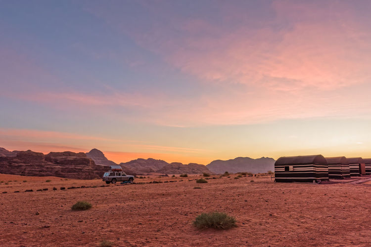 Camp in Wadi Rum during sunrise Beauty In Nature Clouds And Sky Desert Jordan Middle East Sky And Clouds Sunrise Sunrise_Collection Tent Travel Travel Photography Wadi Rum Camp Landscapes Finding New Frontiers