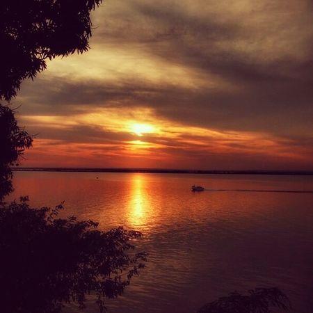 Sunset Tranquility Beauty In Nature Tranquil Scene Idyllic Rioparana Nature