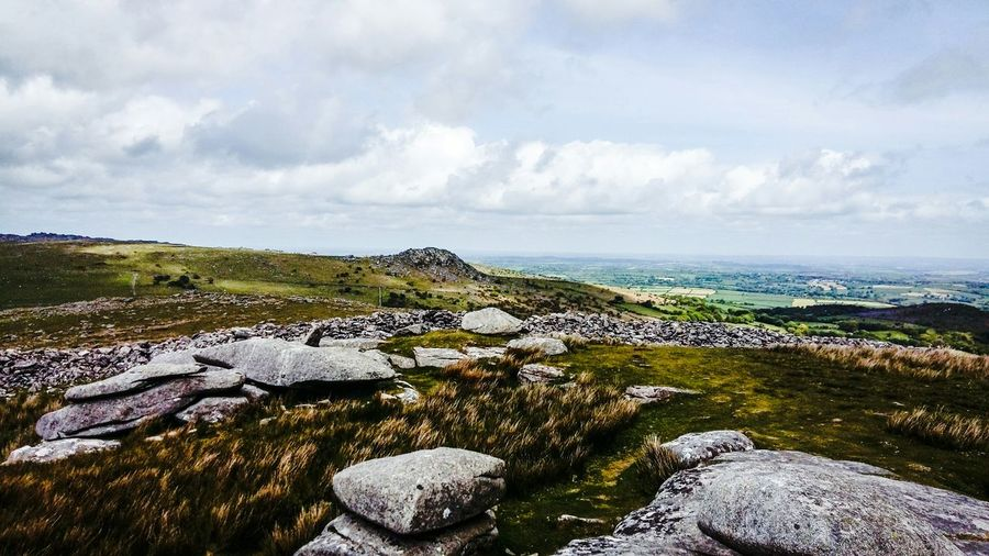 A view feom the top of Cheesewring across Bodmin Moor Edge Of The World Moorland Landscape Cornwall Bodmin Moor Nature My View Lush - Description Countryside Tranquil Scene Non-urban Scene Tranquility Outdoors Beauty In Nature 3XSPUnity Scenics