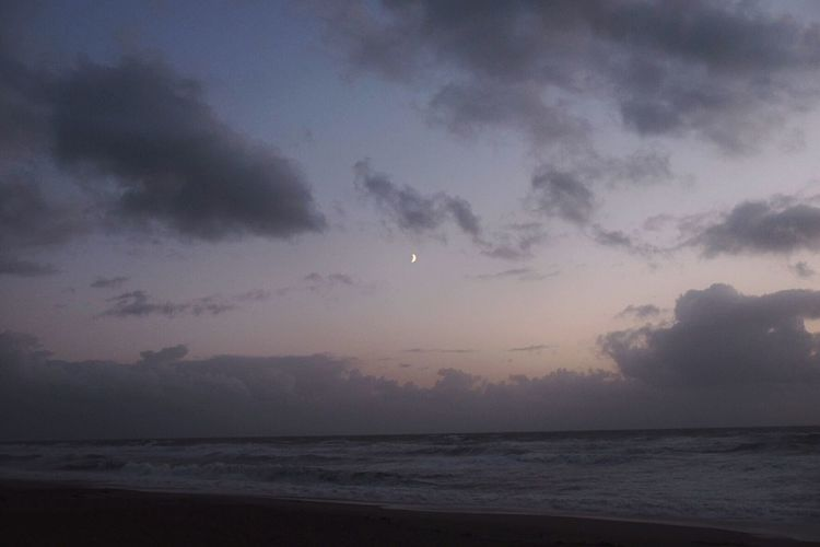 Dramatic sky over sea