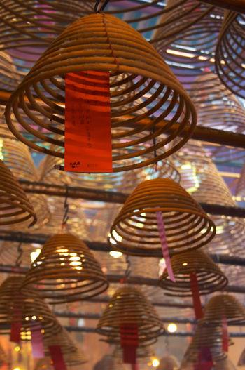 Illuminated lighting equipment on wall
