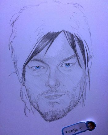 Norman Reedus Hello World Pencil Drawing Art Pencil Drawing Portrait Drawing ArtWork Art, Drawing, Creativity MyDrawing