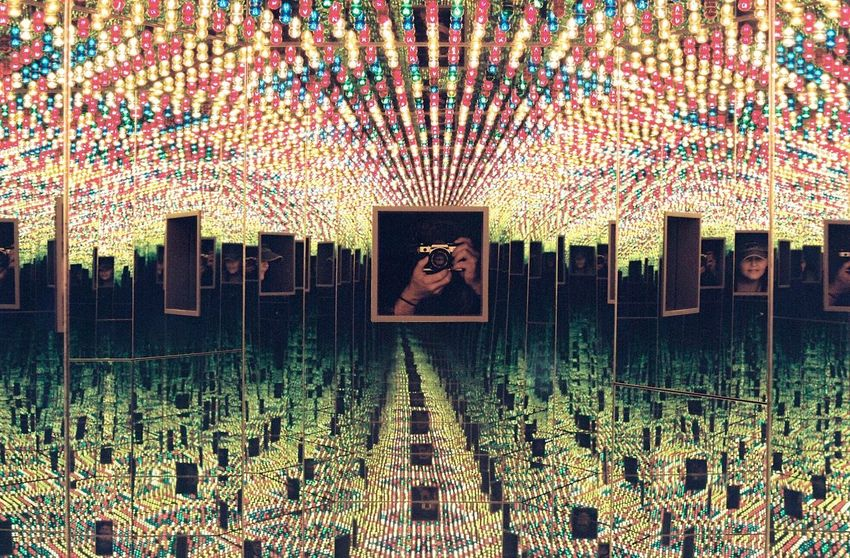 Psychedelic [Shot on Canon AE-1 35mm Provia at the Kusama Exhibit in Hirshhorn Museum. [ One Person Digital Composite Portrait 35mm Film Canon AE-1 Canon AE-1 Program  Film Photography Filmisnotdead Psychedelic Kusama Yayoi Hirshhorn  Washington Washington, D. C. Trippy Surrealism Abstract Photography Filmphotography Taking Photos The Week Of Eyeem StillLifePhotography Photooftheday Photo Of The Day