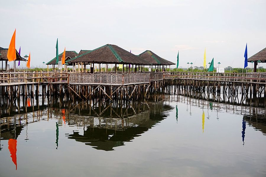 Stilt House Water Built Structure Architecture Outdoors Waterfront Building Exterior Nature Sky Day Sea Nautical Vessel No People Fishing Village Fishing Nipa Hut Eyeem Philippines