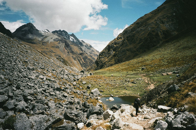 Peru Travel Trekking Beauty In Nature Cloud - Sky Day Landscape Mountain Mountain Range Nature No People Outdoors Salkantay Salkantay Trek Scenics Sky Snow Tranquil Scene Tranquility Water