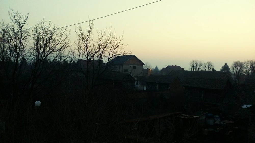 kovin Srbija Sky Social Issues No People Outdoors Tree Silhouette Sunset Built Structure Nature Day