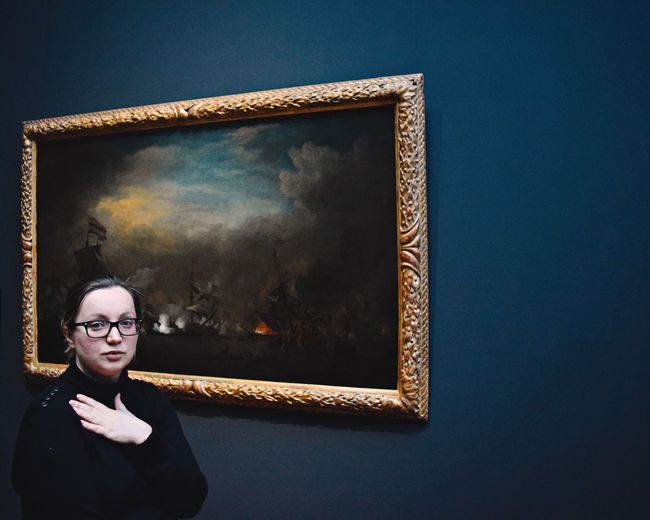 Woman in front of picture Art Picture ArtWork Gallery Indoors  Person Woman Inspired Showcase March Historic History Lights Popular Photos Portrait Of A Woman Portrait WomeninBusiness Women Who Inspire You