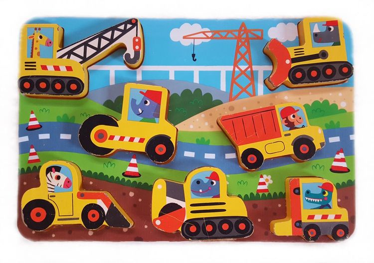 Everything In Its Place Puzzle  Toy Childhood Colours Colourful High Angle View Directly Above Frame Full Frame Baby Toys Baby Building Site Excavator Let's Play Childhood Memories Children Playing Childs Toy Childsplay EyeEm Gallery Wooden How Do We Build The World?