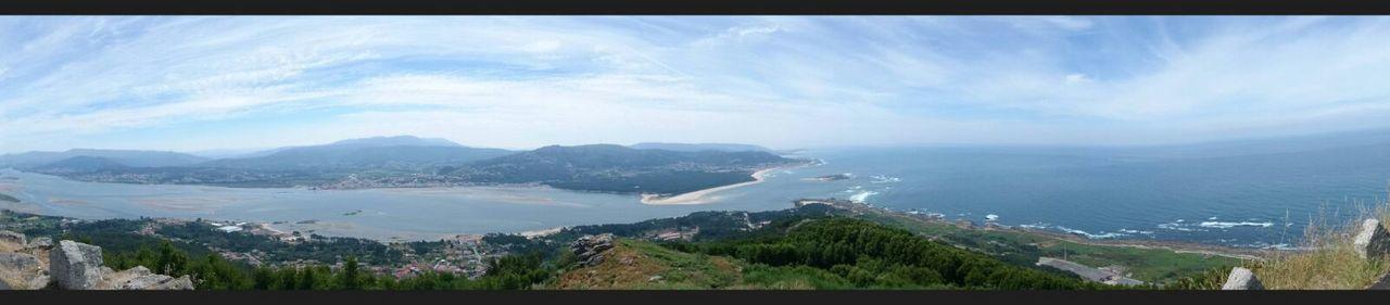 Panoramica Santa Tecla, Galicia
