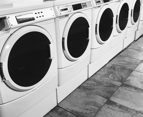 Washing Machine Laundry Laundromat Dryer  Machinery In A Row Indoors  Self Service Chores Washing Hygiene Appliance Domestic Life Convenience No People Technology Day