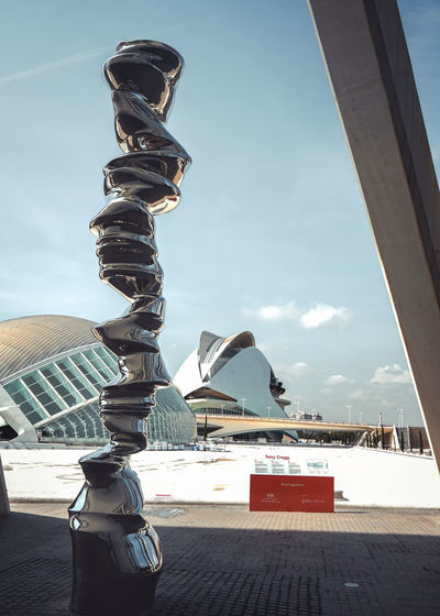 SPAIN Valencia, Spain Architecture Building Exterior Ciudad De Las Artes Y Las Ciencias Creativity Destination Metal No People Outdoors Sculpture Statue Sunlight