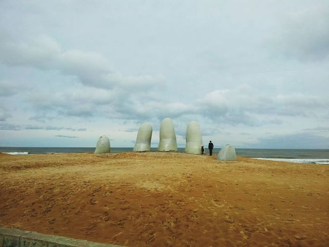 Beach Sea Sand Travel Vacations Cloud - Sky Scenics Tourism Day Punta Del Este