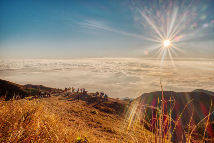 Awesome sunrise in Mt. Pulag EyeEm Nature Lover Lanscape Photography EyeEm Selects EyeEm Best Shots - Landscape EyeEm Best Shots Benguet Philippines Mt. Pulag Brightly Lit Bright Outdoors Day Grass No People Lens Flare Non-urban Scene Sunbeam Cloud - Sky Plant Tranquility Nature Tranquil Scene Sunlight Beauty In Nature Scenics - Nature EyeemPhilippines