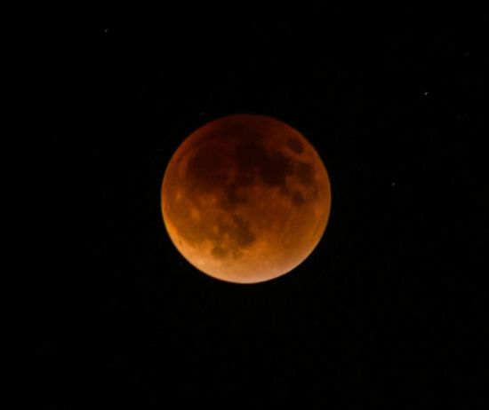 Here's another photo of the Super Blood Moon from Sunday night. Supermoon Bloodmoon Eclipse Lunar Eclipse Luna Nightsky Moon Sky Skyporn Nightphotography