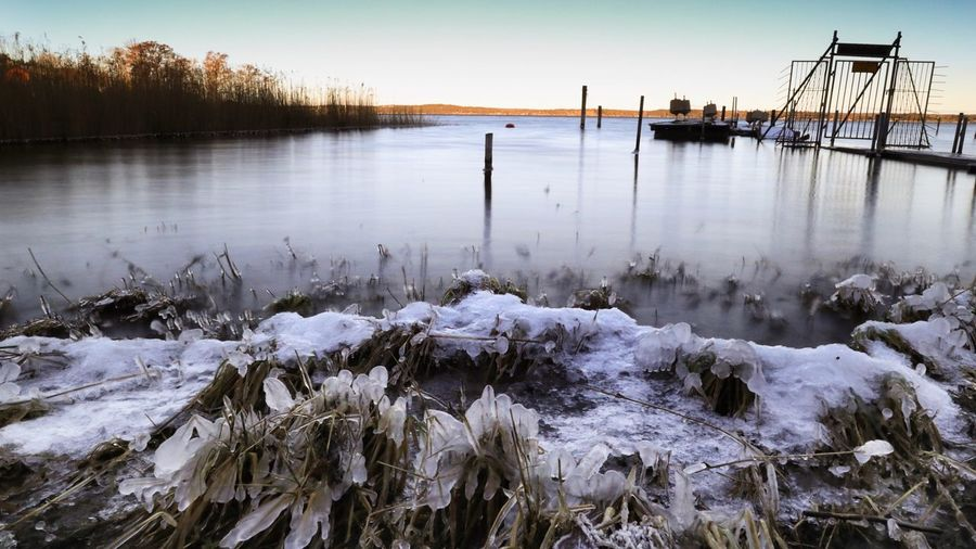 Cold Long Exposure Ice Water Cold Temperature Winter Tranquility Tranquil Scene Beauty In Nature Scenics - Nature Snow Frozen Nature