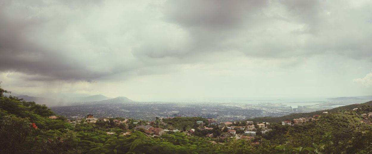 Cloud - Sky Sky Mountain Nature Cityscape High Angle View Beauty In Nature City Storm Cloud Mountain Range First Eyeem Photo