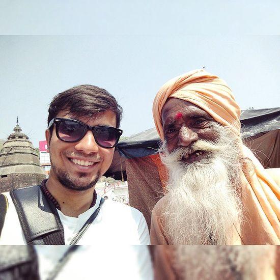 Baba ki jai. Baba Sadhu Beard Haridwar Uttrakhand India Igers Selfie