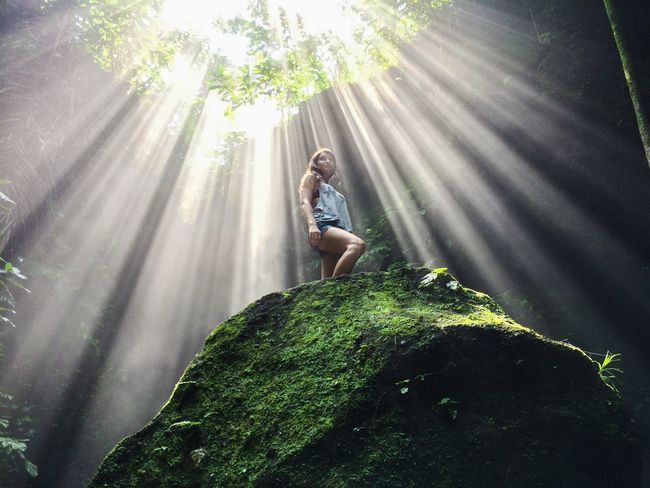Adventure Beauty In Nature Canyon Casual Clothing Hidden Gems  Great Outdoors Green Color Growth Leisure Activity Lens Flare Lifestyles Light Morning Nature Outdoors Portrait Rays Of Light Scenics Sun Sunbeam Sunlight Sunny Sunshine Traveling Young Women