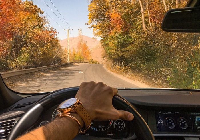 Dashboard Journey Road Men Road Trip Driving Nature Autumn Fall Beauty Fall Colors PouriaNaseri© PoucoFotografia©