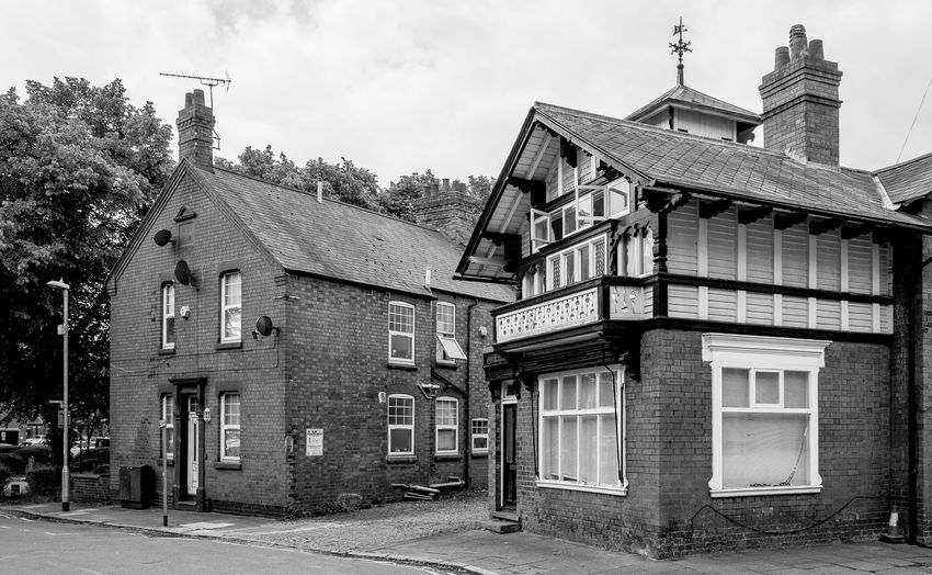 Swiss Cottage, Victoria Gardens, Northampton Blackandwhite Black And White Monochrome Street Urban FUJIFILM X-T2 Northampton Swiss Cottage Architecture Building Exterior Built Structure