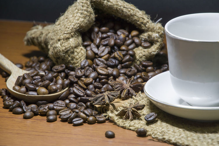 Close-up Coffee Bean Day Drink Food Food And Drink Freshness Indoors  No People Table